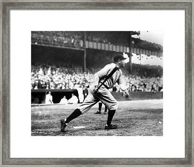 Babe Ruth Batting During The 1926 Framed Print