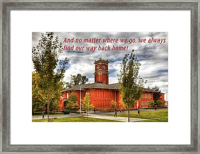 Framed Print featuring the photograph Back Home by David Patterson