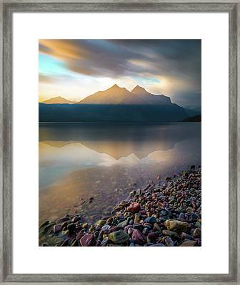 Backlit / Lake Mcdonald, Glacier National Park  Framed Print