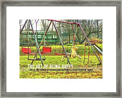 Backyard Play Quote Framed Print by JAMART Photography
