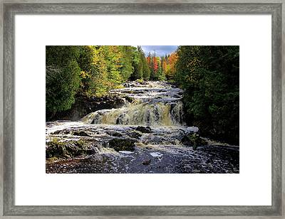 Bad River Cascade Framed Print