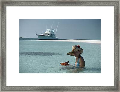 Bahamas Holiday Framed Print by Slim Aarons