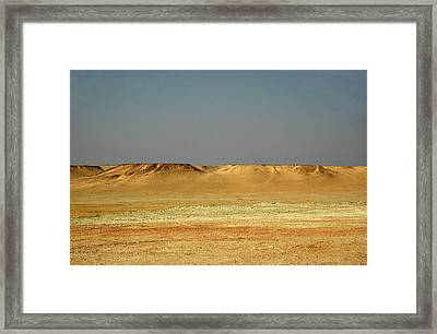 Framed Print featuring the photograph Baked Sahara Desert by Mark Duehmig