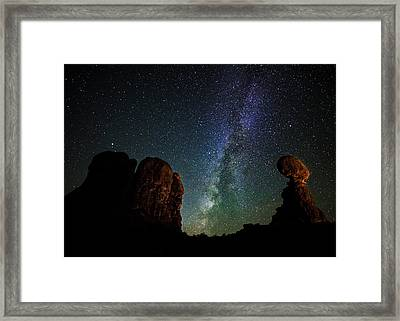 Framed Print featuring the photograph Balancing Act by Andy Crawford