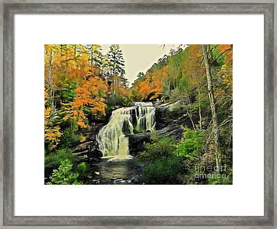 Framed Print featuring the photograph Bald River Falls In Autumn  by Rachel Hannah