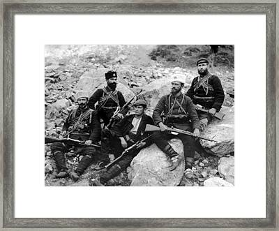 Balkan Soldiers Framed Print by Topical Press Agency