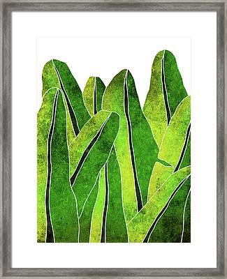 Banana Leaf Framed Art Prints Fine Art America