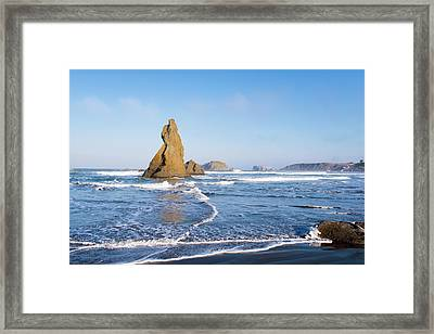 Framed Print featuring the photograph Bandon Oregon 103018 by Rospotte Photography