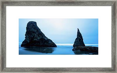 Framed Print featuring the photograph Bandon Oregon Blue 101918 by Rospotte Photography