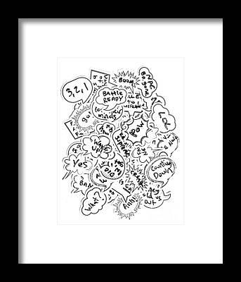 Speech Bubble Framed Prints