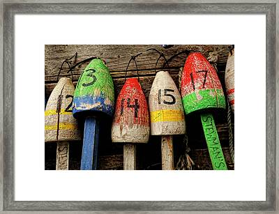 Bar Harbor Bouys Framed Print