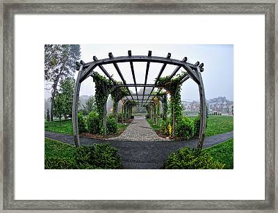 Bar Harbor Pergola Framed Print