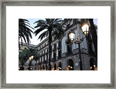 Barcelona, Placa Reial Framed Print