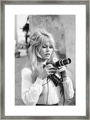 Bardot During Viva Maria Shoot Framed Print