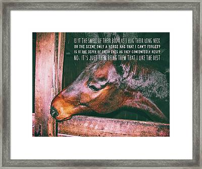 Barn Bay Quote Framed Print