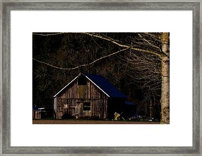 Framed Print featuring the photograph Barn Highlight by Jerry Sodorff