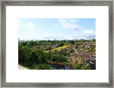 Barnard Castle View Framed Print