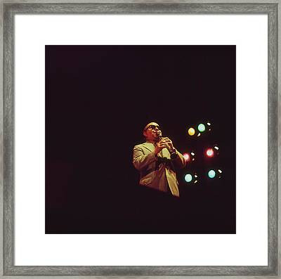 Barney Bigard Performs At Newport Framed Print by David Redfern