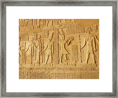 Bas Relief Figures And Hieroglyphics On Framed Print by Fred Bahurlet / Eyeem
