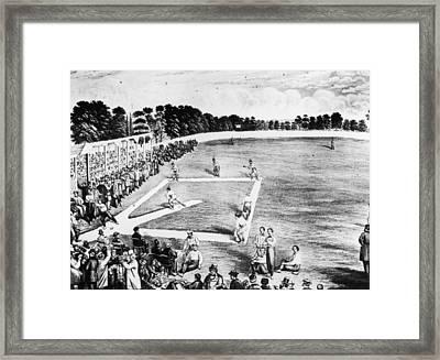 Baseball Game Framed Print by Hulton Archive