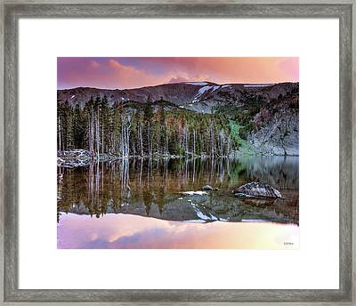Basin Lake Sunset Framed Print by Leland D Howard