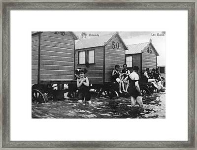 Bathing Belgians Framed Print by Hulton Archive