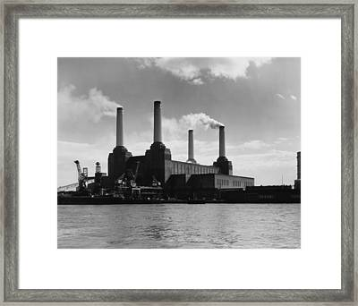 Battersea Power Framed Print by Woolnough