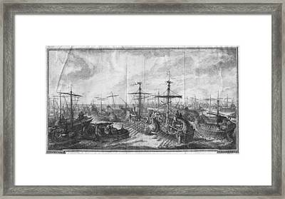 Battle Of Cape Ecnomus Framed Print by Hulton Archive