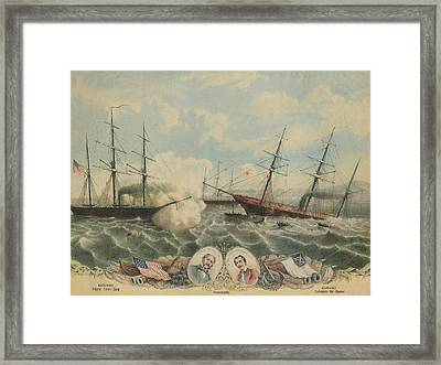 Battle Of Cherbourg Framed Print by Hulton Archive