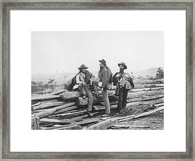 Battle Of Gettysburg Framed Print by Archive Photos