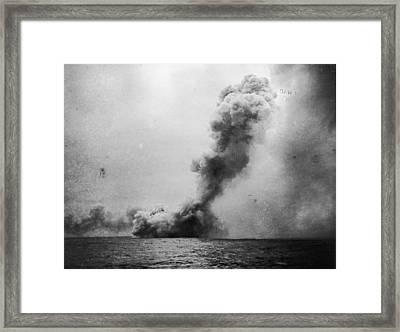 Battle Of Jutland Framed Print by Fotosearch