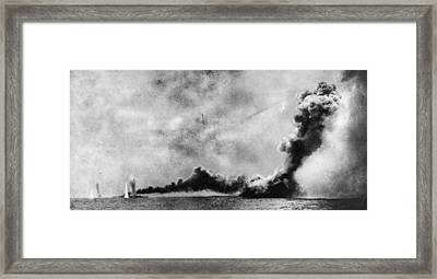 Battle Of Jutland Framed Print by Hulton Archive