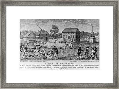 Battle Of Lexington Framed Print by Fotosearch