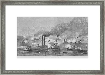 Battle Of Memphis Framed Print by Kean Collection