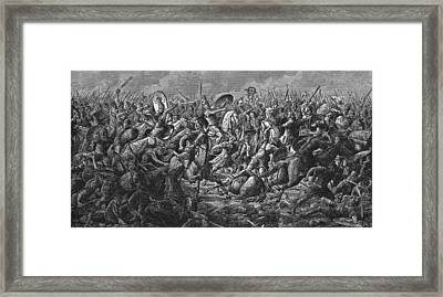 Battle Of Pharsalus Framed Print by Kean Collection