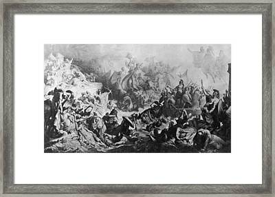 Battle Of Salamis Framed Print by Hulton Archive