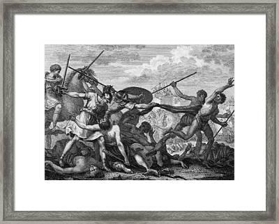 Battle Of Zama Framed Print by Hulton Archive
