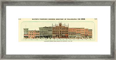 Baxter's Panoramic Business Directory Framed Print
