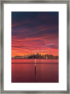 Bay City Burn Framed Print by Vincent James