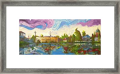 Framed Print featuring the painting Bayou Saint John One by Amzie Adams