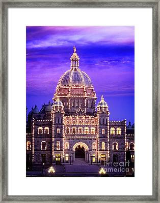 Framed Print featuring the photograph Bc Parliament by Scott Kemper