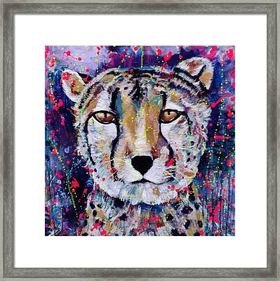 Be Fearless Framed Print by Jennifer Charton