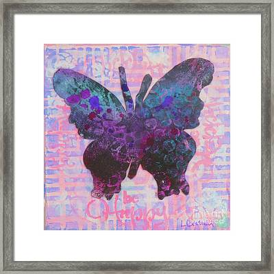 Be Happy Butterfly Framed Print