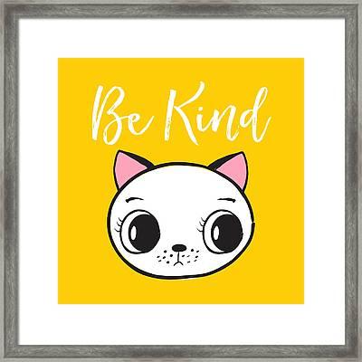 Be Kind - Baby Room Art Poster Print Framed Print
