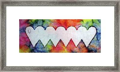 Be Still My Beaded Hearts Framed Print