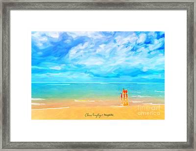 Beach Blues II Framed Print