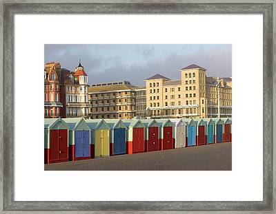 Beach Huts In Brighton Framed Print by Martin Richardson/a.collectionrf