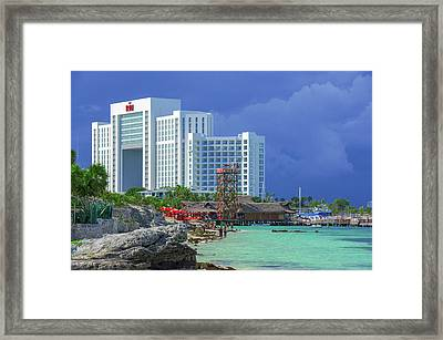 Beach Life In Cancun Framed Print