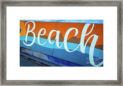 Beach Sign Mission To Pacific Boardwalk Framed Print