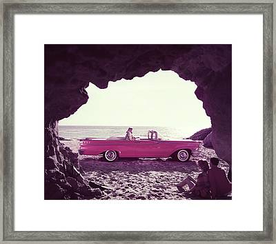 Beached Convertible Framed Print by Tom Kelley Archive